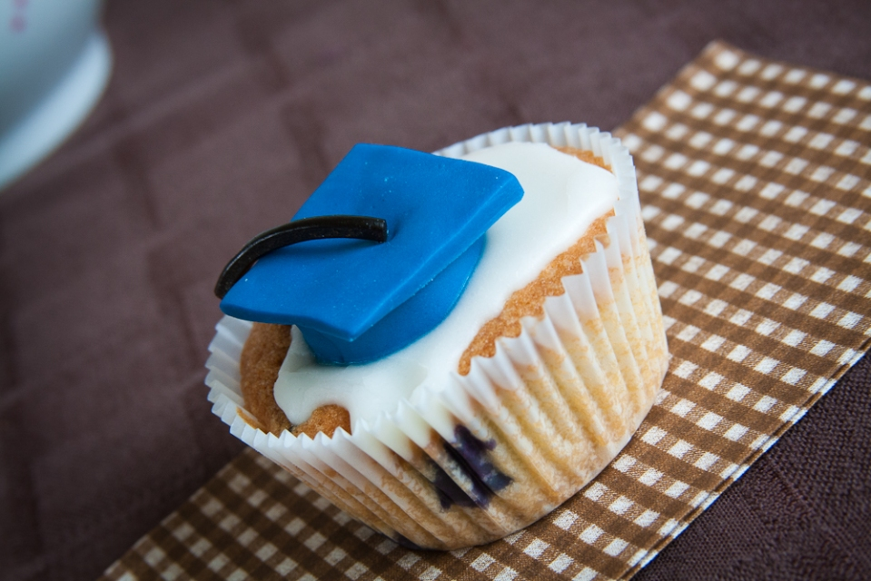 Blueberry Graduation Cupcake