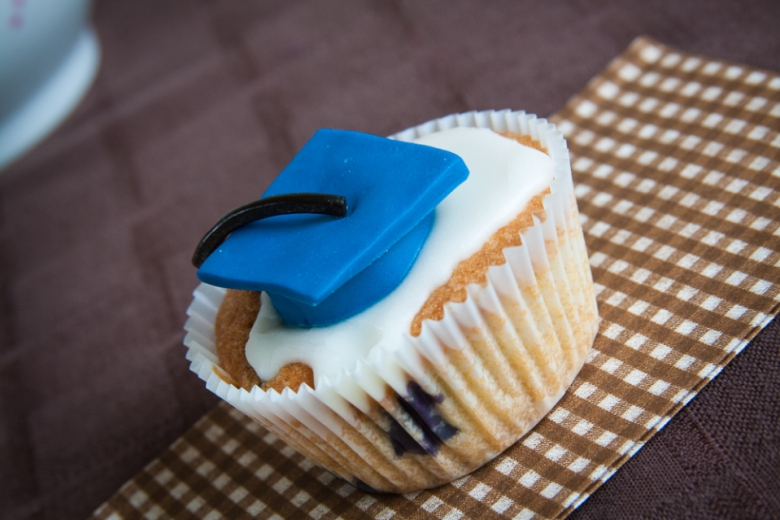 Blueberry Graduation Cupcake