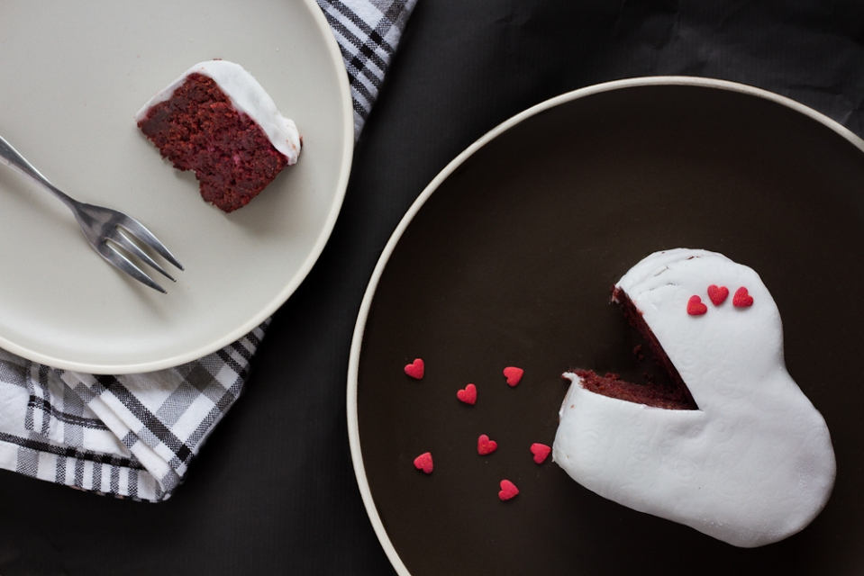 Red Velvet Cake Made With Beetroot