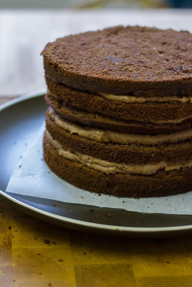 Ovaltine Cake inside