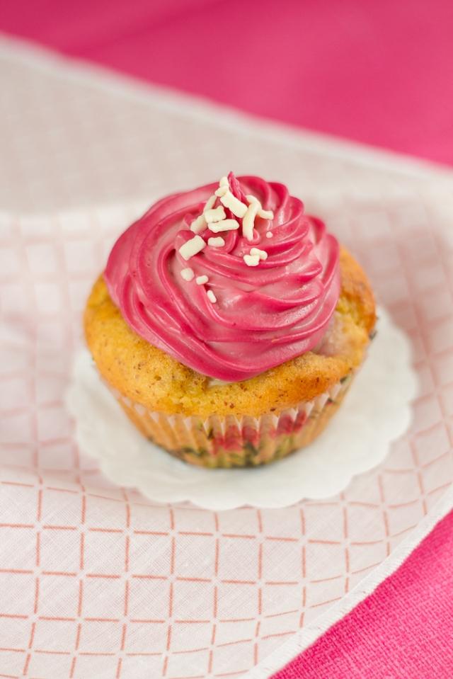 Lychee Raspberry Rosewater Cupcake