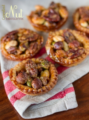 Caramelized Nut Tartelettes