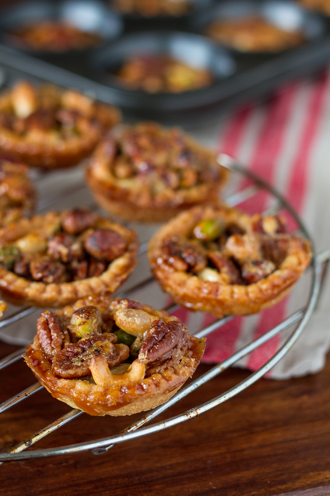 Caramelized Nut Tartellets