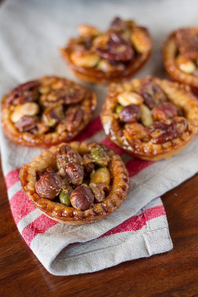 Caramelized Nut Tartelletes