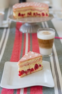 Raspberry Layered Cake