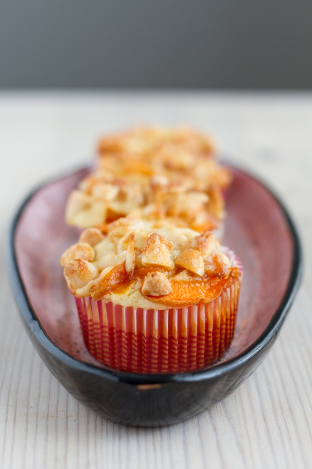 Apricot Muffin with crunchy Almond Topping (Lactose-Free)