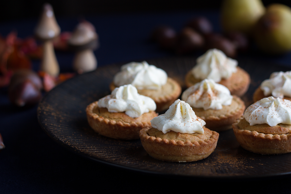 Spicy Chestnut and Pear mini Pies