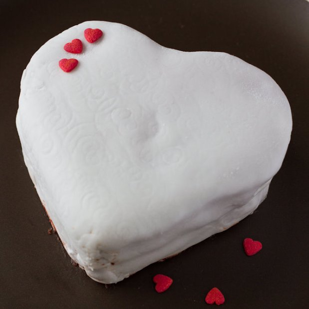 Beetroot Red Velvet Heart