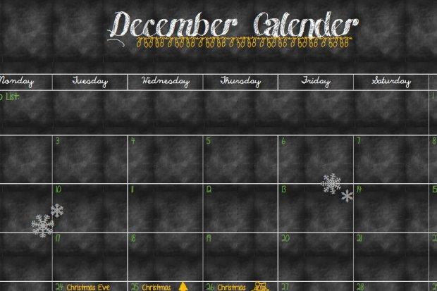 December Calender and Planner