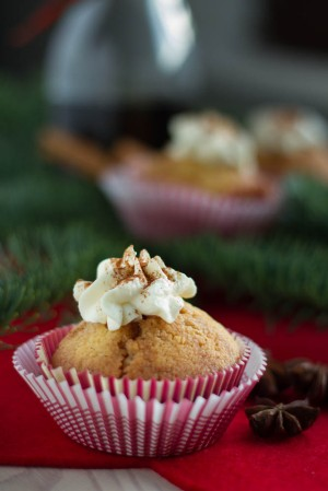 Glühwein Cupcakes (Mulled Wine Cupcakes)
