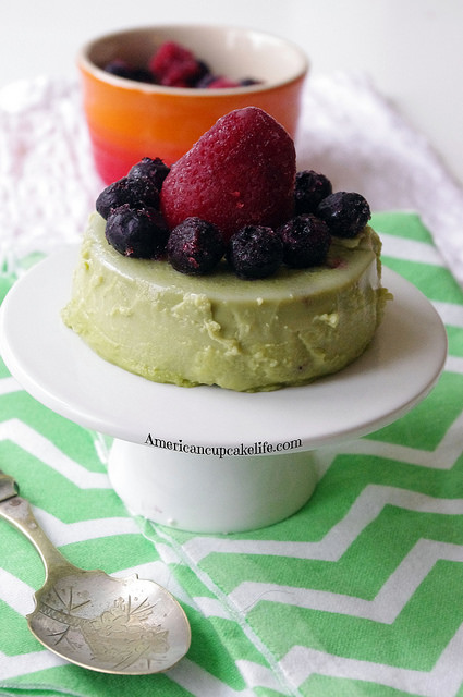 Green Tea Panna Cotta by Kelly @ Americancupcakeabroad.com